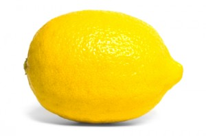 Side view of a lemon.